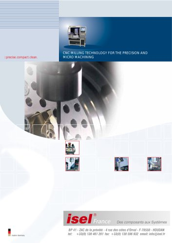 CNC Milling Technology For The Precision And Micro Machining