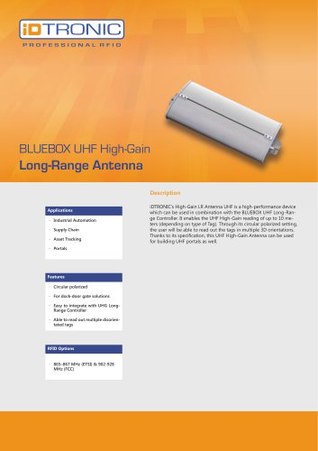 RFID Antennas | High-Gain LR Antenna