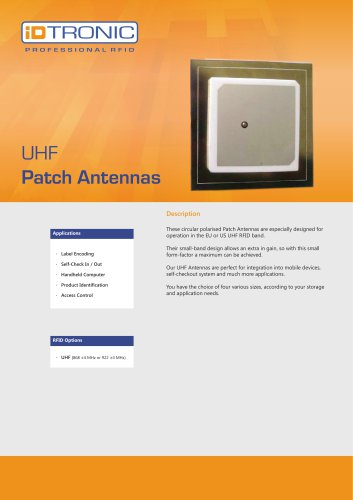 RFID Antennas | UHF Patch Antennas