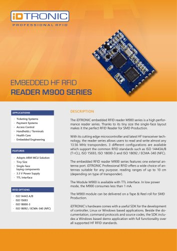 RFID Embedded Modules | HF Module M900 Series