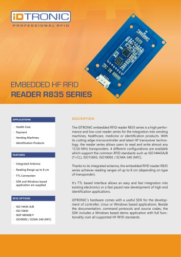 RFID Embedded Modules | HF Reader R835 Series
