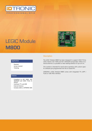 RFID Embedded Modules | LEGIC Module M800