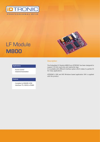 RFID Embedded Modules | LF Module M800