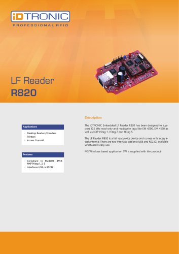 RFID Embedded Modules | LF Reader R820