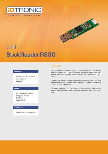 RFID Embedded Modules| Stick Reader R830 UHF
