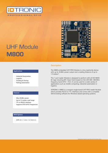 RFID Embedded Modules | UHF Module M800