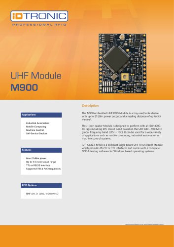 RFID Embedded Modules | UHF Module M900