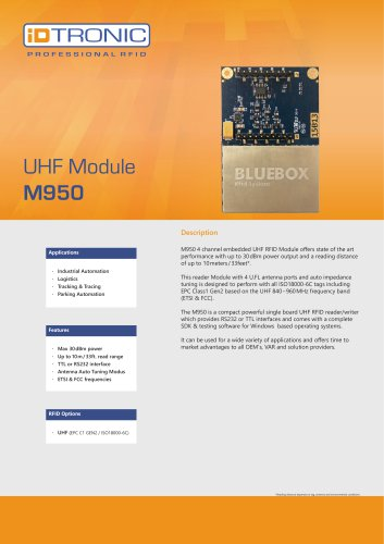 RFID Embedded Modules | UHF Module M950