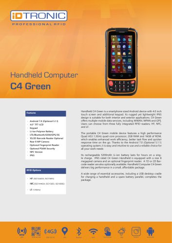 RFID Handheld Computers | C4 Green