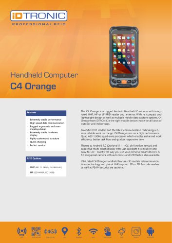 RFID Handheld Computers | C4 Orange