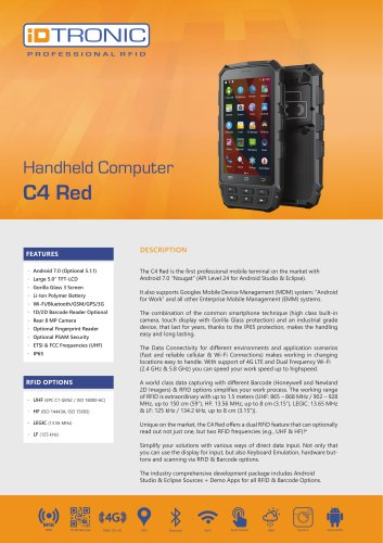 RFID Handheld Computers | C4 Red