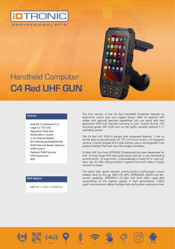 RFID Handheld Computers | C4 Red UHF GUN