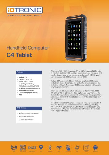 RFID Handheld Computers | C4 Tablet