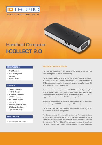 RFID Handheld Computers | Datacollector I-COLLECT 2.0