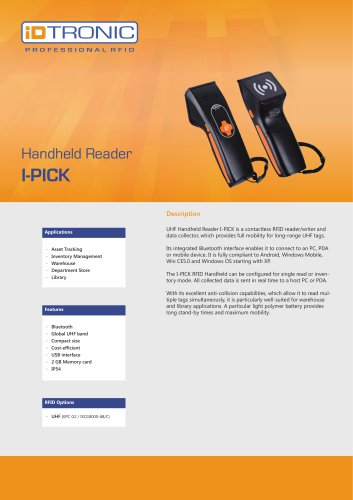 RFID Handheld Computers | Datacollector I-PICK