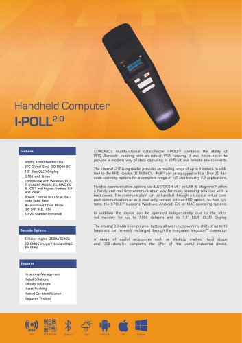 RFID Handheld Computers | Datacollector I-POLL 2.0