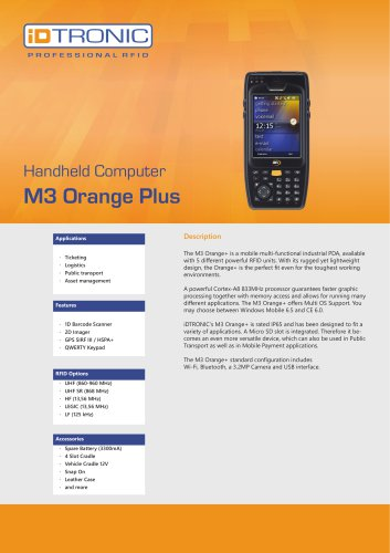 RFID Handheld Computers | M3 Orange Plus