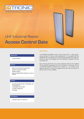 RFID Industrial Readers | Access Control Gate