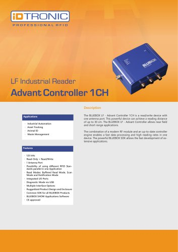 RFID Industrial Readers | BLUEBOX Advant Controller 1CH