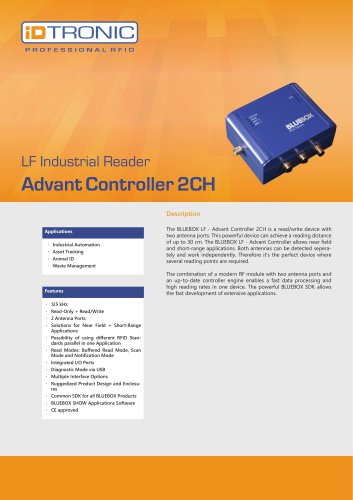 RFID Industrial Readers | BLUEBOX Advant Controller 2CH
