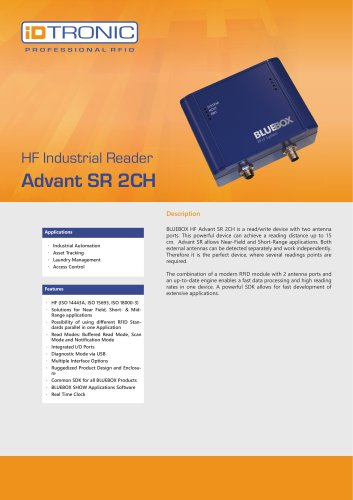 RFID Industrial Readers | BLUEBOX Advant SR 2CH