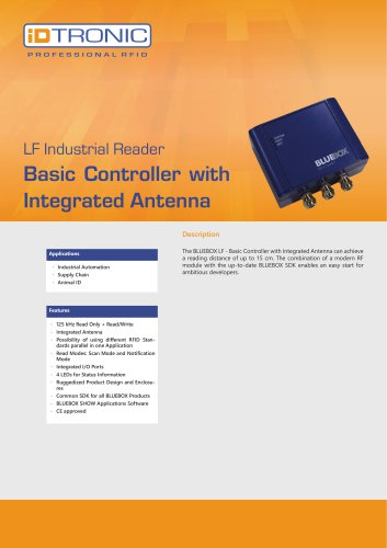 RFID Industrial Readers | BLUEBOX Basic Controller with integrated Antenna
