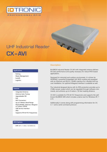 RFID Industrial Readers | BLUEBOX CX-AVI