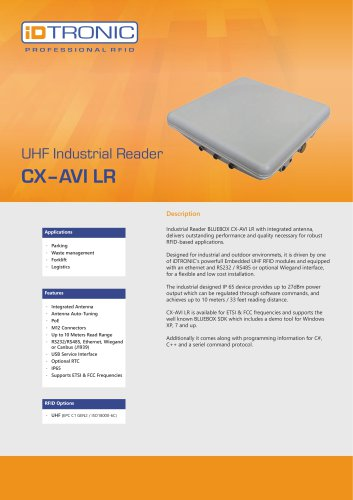 RFID Industrial Readers | BLUEBOX CX-AVI LR