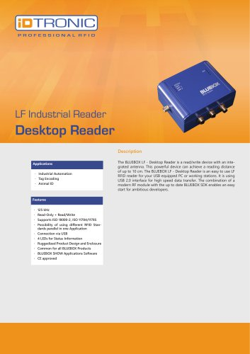 RFID Industrial Readers | BLUEBOX Desktop Reader LF