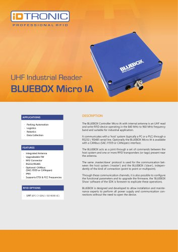 RFID Industrial Readers | BLUEBOX Micro IA
