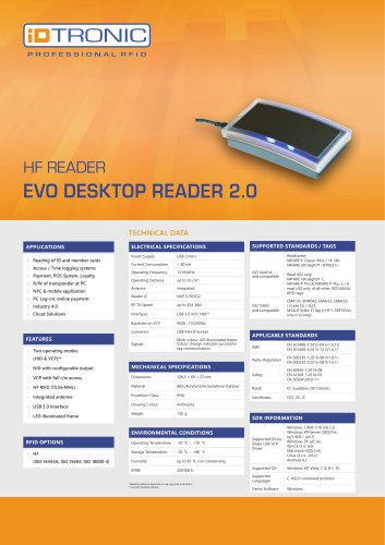 RFID Readers | Desktop Reader EVO HF 2.0