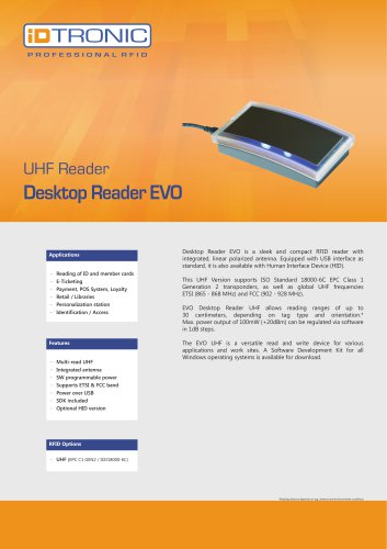 RFID Readers | Desktop Reader EVO UHF