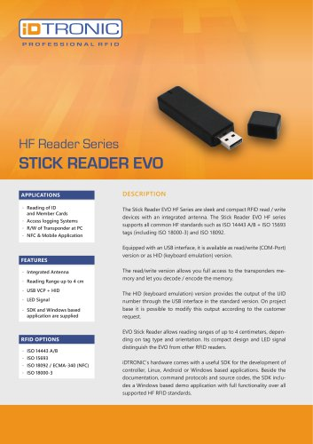 RFID Readers | Stick Reader EVO HF Series