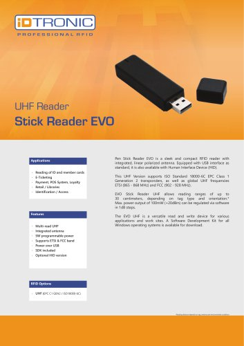 RFID Readers | Stick Reader EVO UHF