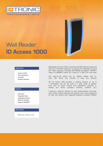 RFID Readers | Wall Reader ID Access 1000