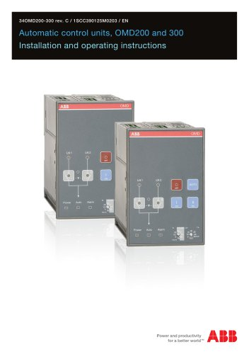 Automatic control units, OMD200 and OMD300