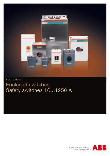 Enclosed safety switches, 16...1250 A. Catalogue OT2GB