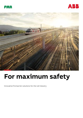 Fire barrier solutions for the rail industry.