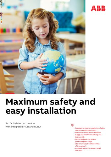 Maximum safety and easy installation AFDDs S-ARC1 and DS-ARC1