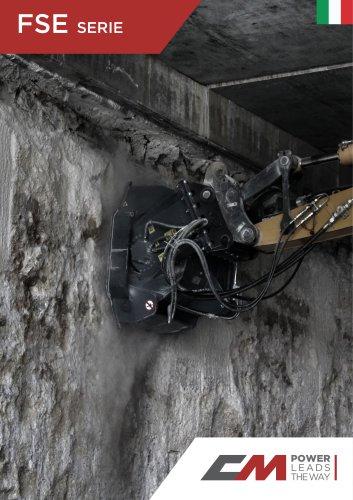 Fresa stradale per braccio escavatore FSE