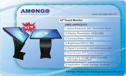 "43"" Digital Signage support wifi 1920x1080 pixels (AMG-43PPC01T1)"