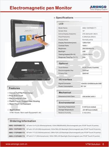 "Amongo 19"" electromagnetic pen monitor, privacy film optional"