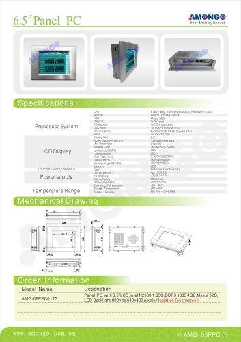 "AMONGO 6.5"" 640x480 Pixel Resistive touchscreen 600nits(Panel PC)AMG-06PPC01T3"