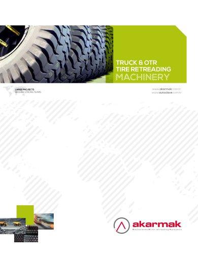 Truck and OTR tire retreading machinery