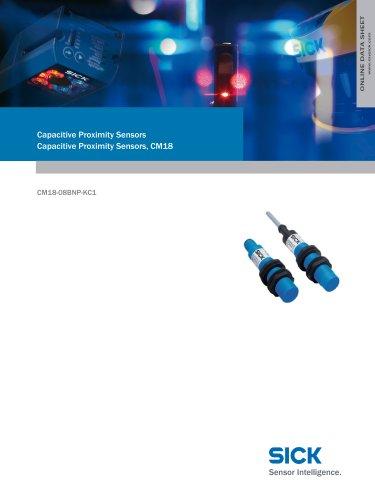 Capacitive Proximity Sensors Capacitive Proximity Sensors, CM18