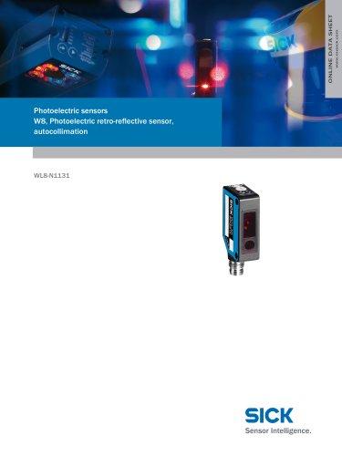 Photoelectric sensors W8, Photoelectric retro-reflective sensor, autocollimation