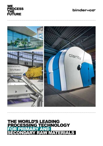 THE WORLD'S LEADING PROCESSING TECHNOLOGY FOR PRIMARY AND SECONDARY RAW MATERIALS