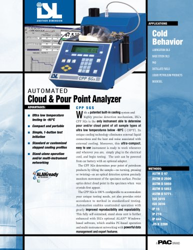 CPP 5GS - AUTOMATIC CLOUD & POUR POINT ANALYZERS
