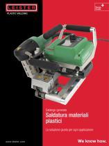 Catalogo generale Saldatura di materiale plastico