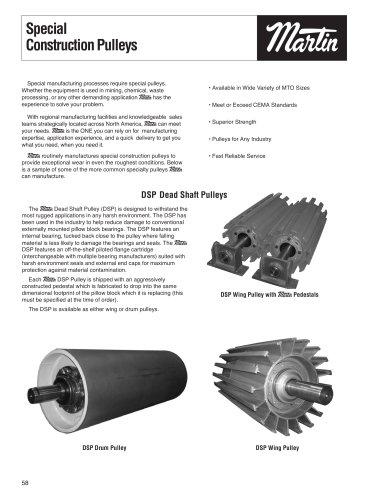 Conveyor Pulleys- Special Construction Pulleys
